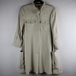 BCBG MAXAZRIA EMILEE CARGO POCKET SHIRT DRESS